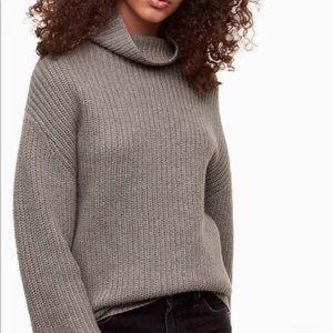 Aritzia Montpellier sweater in oatmeal heather